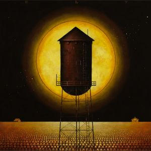 9. WATER TOWER WITH YELLOW MOON - 48